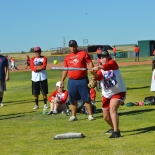 shayla batting practice