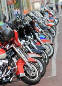motorcycles on main street
